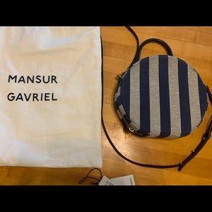 Mansur Gabriel Stripe Circle Crossbody